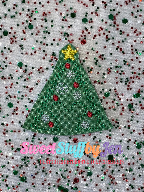 SSBJ Mouse Christmas Tree Outline Embroidery File