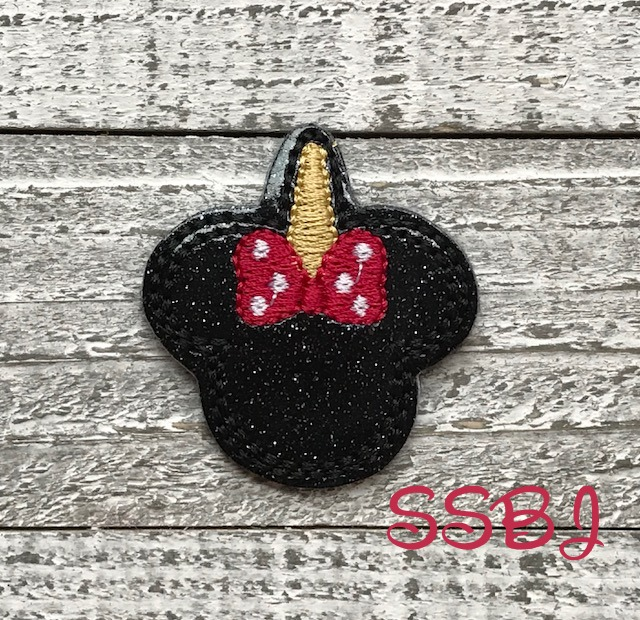 SSBJ Mrs Mouse Unicorn Bow Embroidery File