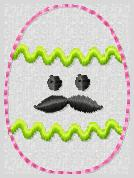 Mr Egg Embroidery File