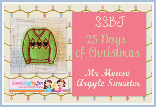 SSBJ Argyle Mouse Sweater Embroidery File