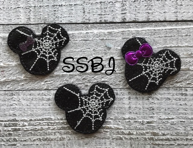 SSBJ Mr Mouse Spider Web Embroidery File