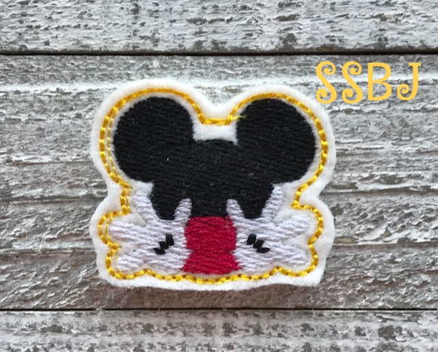 SSBJ Mr Mouse Waves  Embroidery File