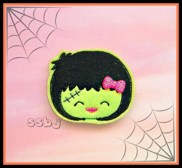 Hallow Kutie Kids Frank Embroidery File