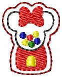Mrs Mouse Gumball Machine Embroidery File
