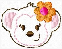 Mrs Monkey Embroidery File