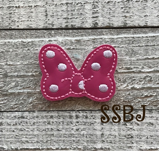 SSBJ Mrs Mouse Minnie Bow Embroidery File