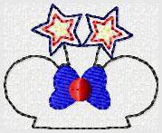 Mrs Mouse Star Embroidery File
