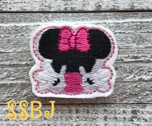 SSBJ Mrs Mouse Waves Embroidery File