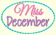 Miss December Clip Cover Embroidery File
