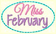 Miss February Clip Cover Embroidery File