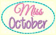 Miss October Clip Cover Embroider File