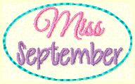 Miss September Embroidery File