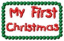 My First Christmas Embroidery File