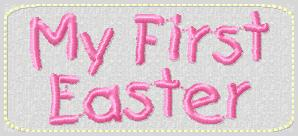 My First Easter Embroidery File