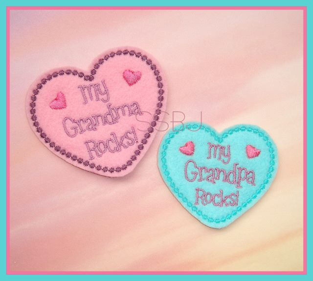My Grandma & Grandpa ROCK Embroidery File