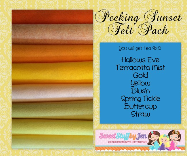 Peeking Sunset Felt Bundle