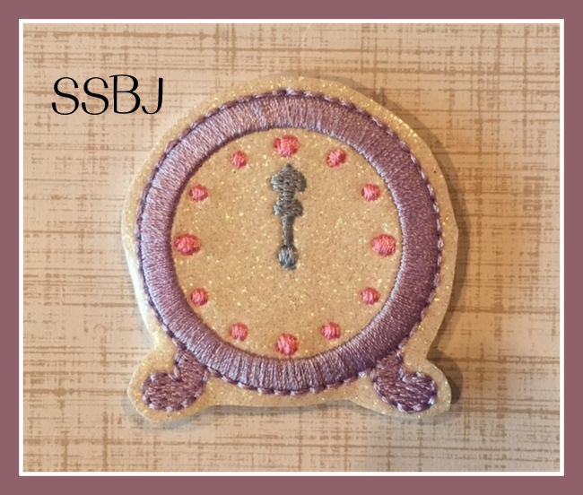 SSBJ New Years Clock Midnight Embroidery File