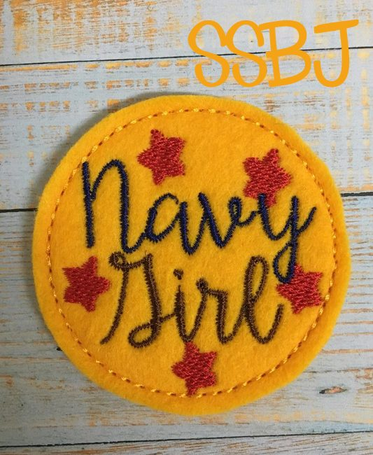 SSBJ Navy Girl Embroidery File