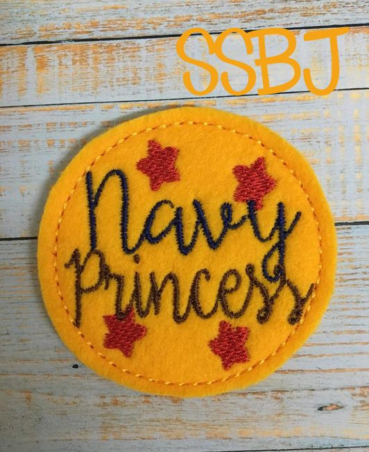 SSBJ Navy Princess Embroidery File