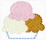 Neopolitan Sundae Embroidery File