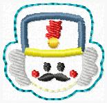 Nutcracker Embroidery File FACE