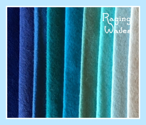 Raging Waves Wool Felt Bundle
