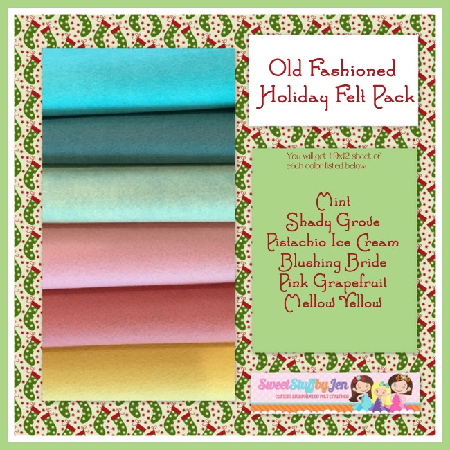 Old Fashioned Holiday Felt Pack