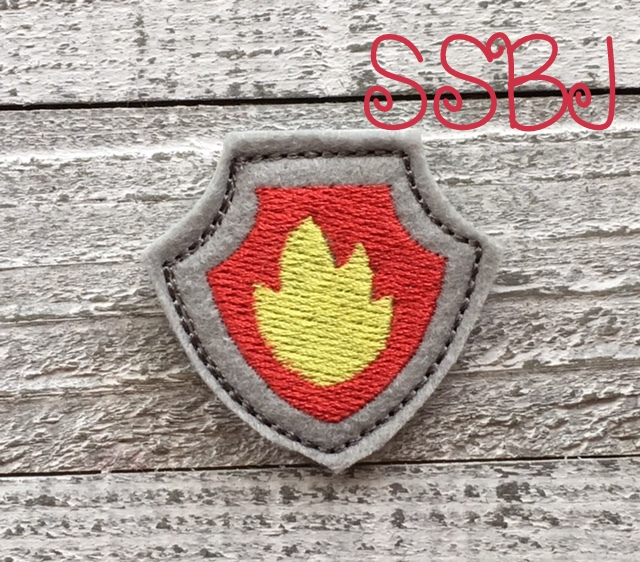 SSBJ Paw Patrol Shield Fire Embroidery File