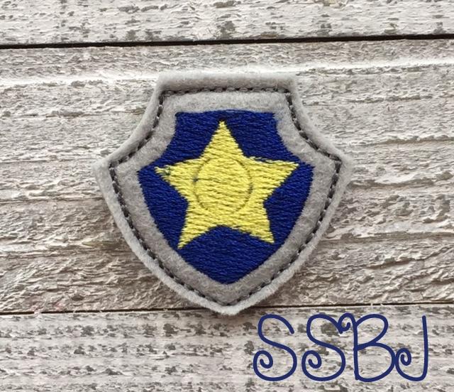 SSBJ Paw Patrol Shield Police Embroidery File