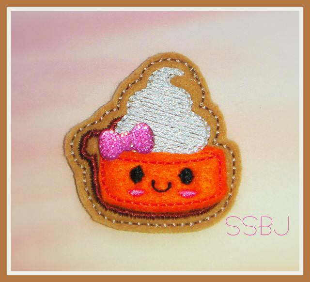 Pumpkin Spice Pie Embroidery File