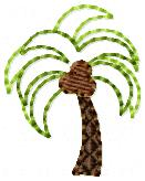 Beachy Palm Tree Embroidery File