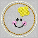 Smiley Pancake Embroidery File
