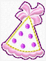 Party Hat Dot Embroidery File