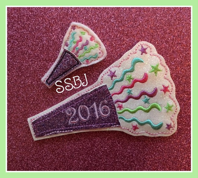 SSBJ Party Horn 2016 Embroidery File