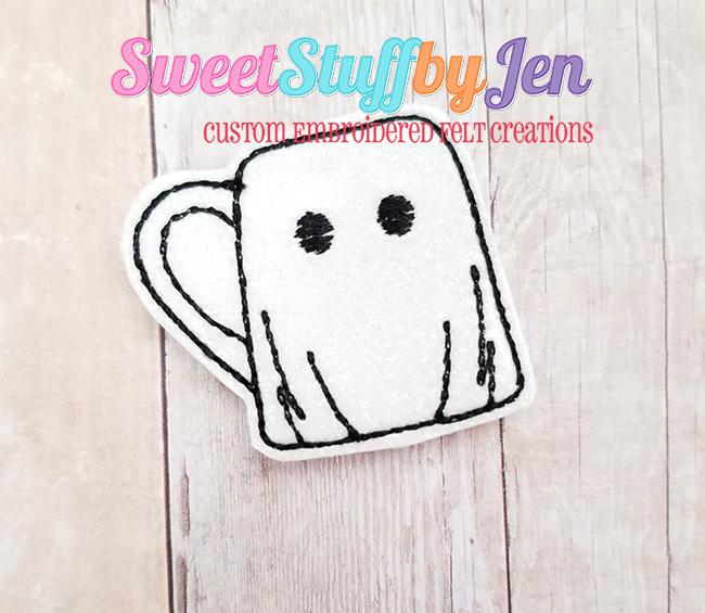 SSBJ Party Ghost Mug Embroidery File