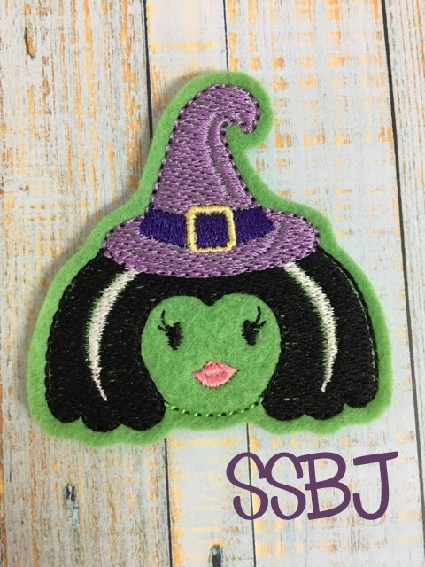 SSBJ Costume Party Witch Embroidery File
