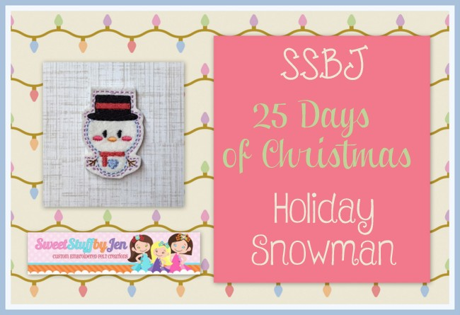 SSBJ Holiday Snowman Embroidery File