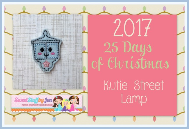 SSBJ Holiday Street Lamp Embroidery File
