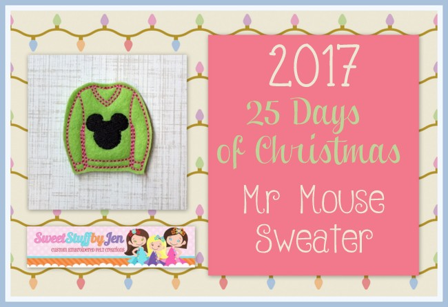 Mr Mouse Sweater Embroidery File