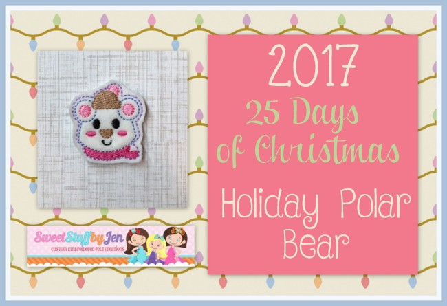 SSBJ Holiday Polar Bear Embroidery File