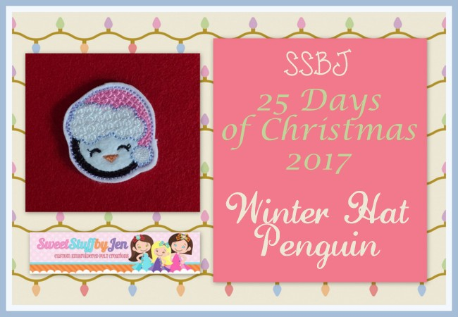 SSBJ Winter Hat Penguin Embroidery File