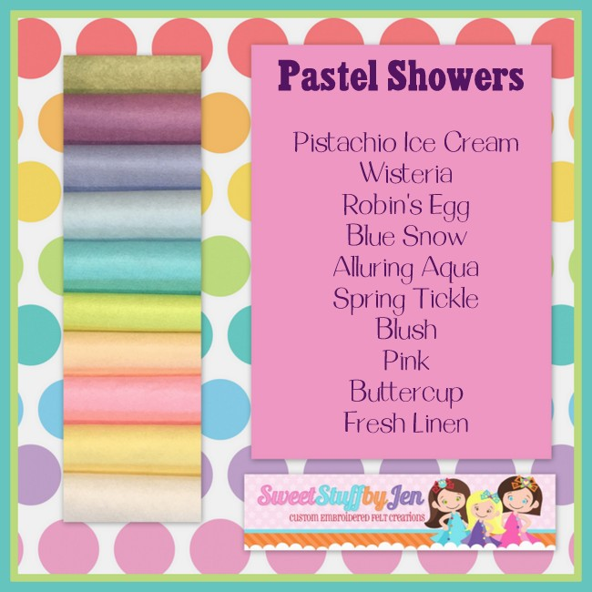 Pastel Showers Felt Variety Pack