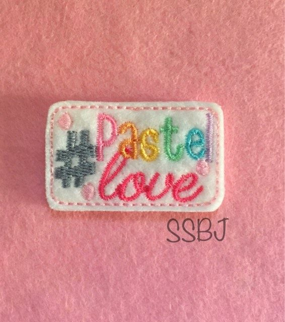 SSBJ Hashtag Pastel Love Embroidery File