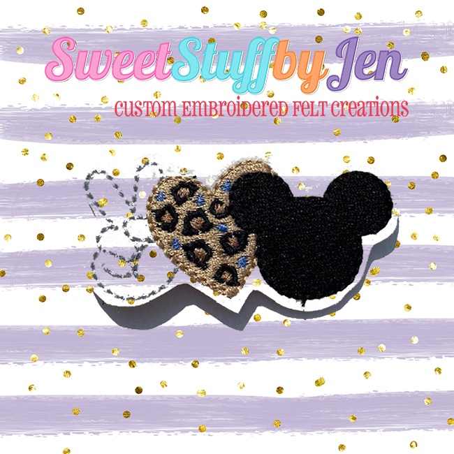 SSBJ Peace Love Mouse Embroidery File