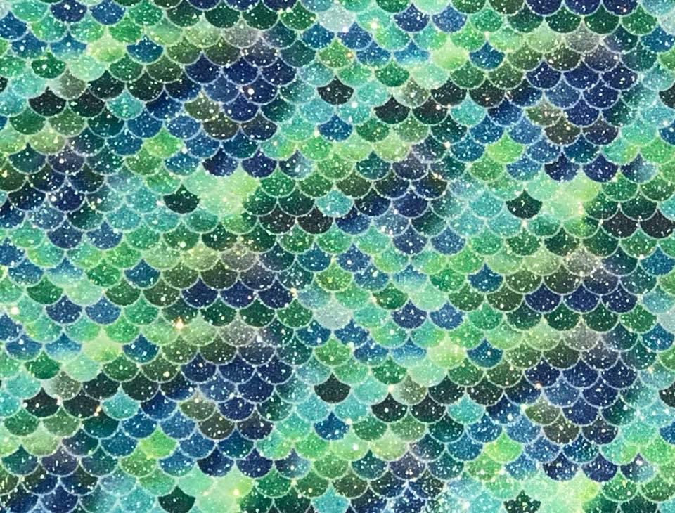 Mermaid Garden Moonlight Mermaid Embroidery Vinyl
