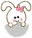 Peeking Bunny Embroidery File