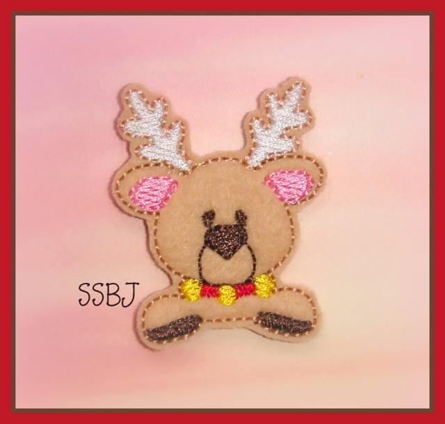 Peeking Deer Embroidery File