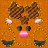 Peeking Reindeer Embroidery File
