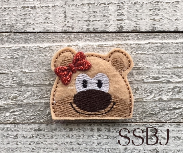 SSBJ Peeking Bear Embroidery File