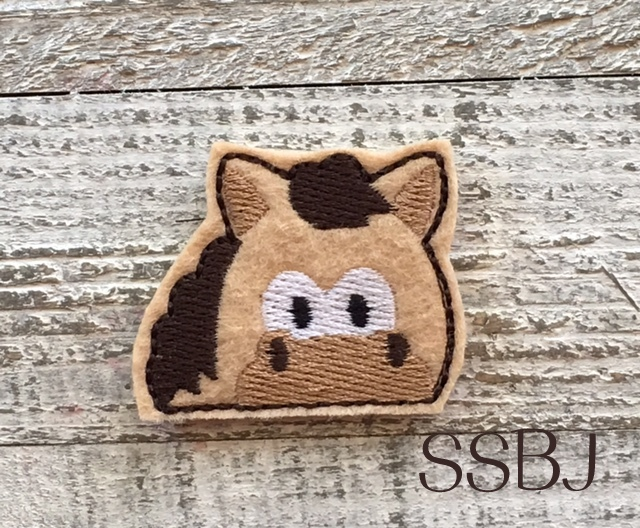 SSBJ Peeking Horse Embroidery File